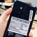 Появились опубликованные снимки смартфона Nokia с пятью камерами