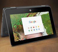 Первый Chromebook от HP оснащен полной клавиатурой и тач экраном