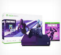 Появились изображения пурпурной игровой консоли Xbox One S для фанатов Fortnite