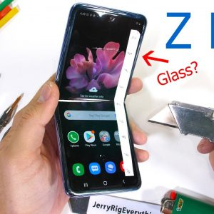 Тест прочности смартфона Galaxy Z Flip