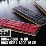 Память Crucial Balistix DDR4-3600 и Ballistix Max DDR4-4000