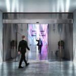 LG разработала выдвижные двери сделанные из прозрачных OLED экранов